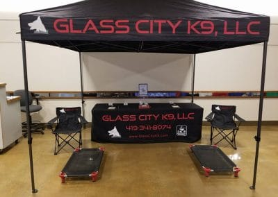 Glass City K9 LLC dog training demonstration at the Seagate Center in downtown Toledo Ohio.